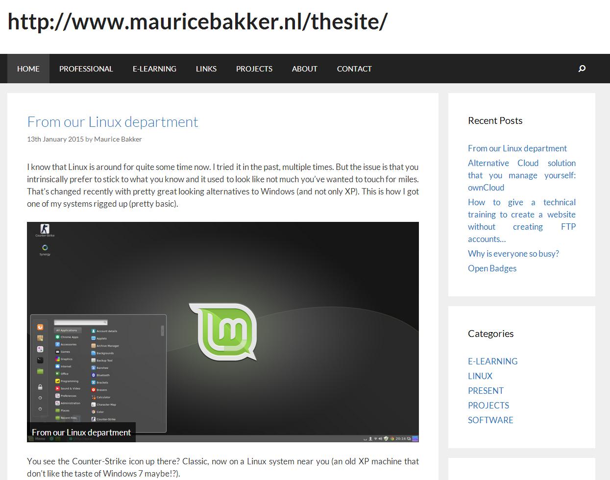 Maurice Bakker   A Personal Website